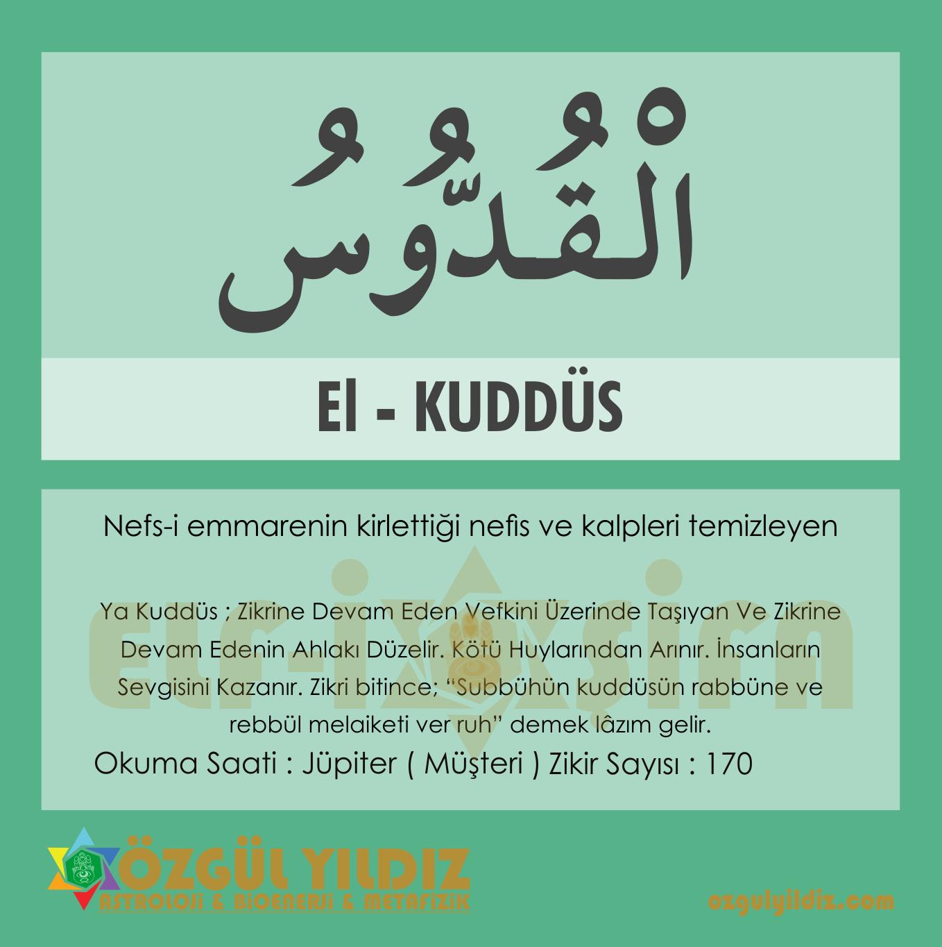 alemfal el kuddus esmasi havasi okuma saati